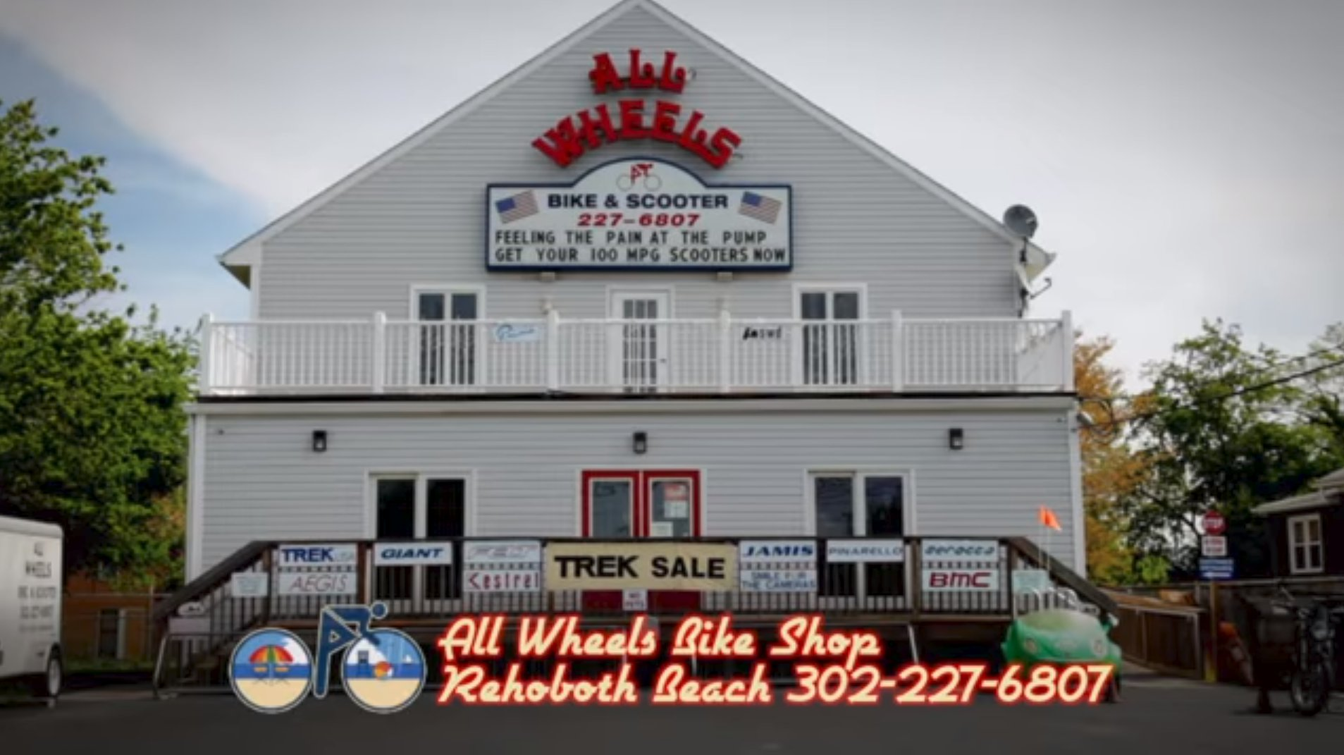 All Wheels Bike and Scooter Shop Rehoboth Beach Delaware